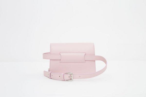 Borsa a spalla in pelle Monrob Nico rosa retro