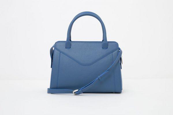 Borsa in pelle Monrob Olivia blu retro